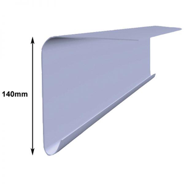 a250 drip fascia half length - fibreglass roofing supplies
